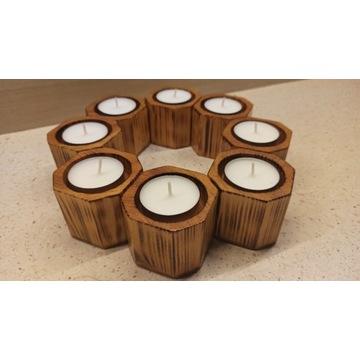 Świecznik drewniany na podgrzewacz tealight