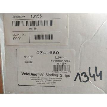 Grzbiety/Velobind S2 Binding Strips 25x297 białe