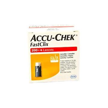 Accu-check fastclix 204 szt bębenki nowe