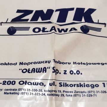 Pamiątkowa reklamówka ZNTK Oława