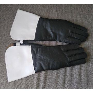 Rękawiczki skórzane zimowe Policja Milicja PRL