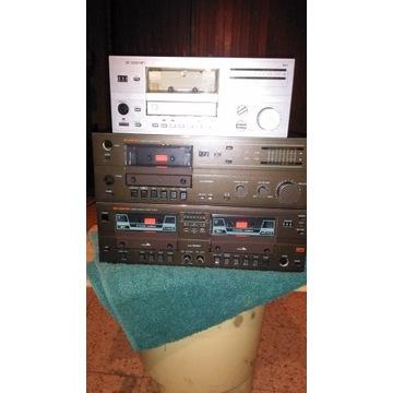 Magnetofon deck RFT trzy sztuki
