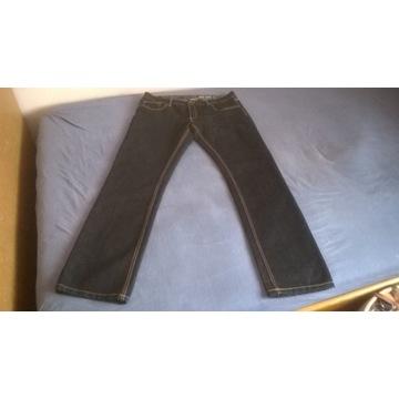 Spodnie męskie ciemny granat jeansowe Livergry