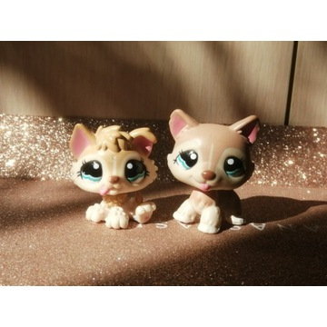 LPS Littlest Pet Shop Psy Husky #1012 #1013 + akc.