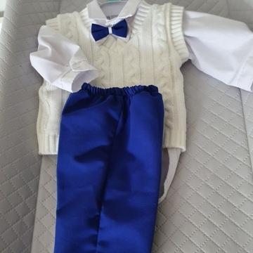 Ubranko na chrzest chłopiec 74 cm