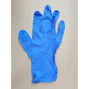 Rękawiczki nitrylowe niebieskie L 200 sztuk
