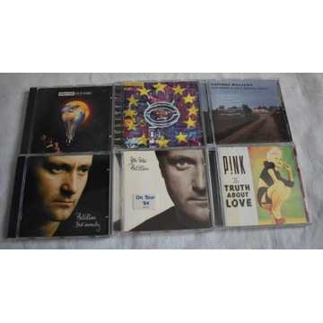 Phil Collins,Pink,Robert plant,U2,Cucinda Williams