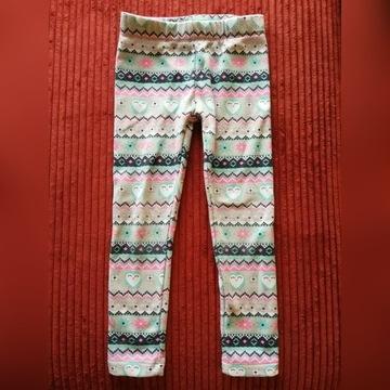 Ciepłe legginsy w sówki 116
