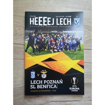 Program Lech Poznań -  Benfica Lizbona 2020
