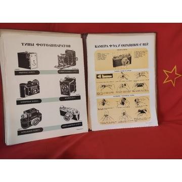 KSIĄŻKA EDUKACYJNE STOŁY FOTOGRAFIA 1940 ROK ZSRR