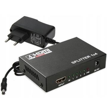 SPLITTER ROZDZIELACZ HDMI 1x4 1080p FULL HD