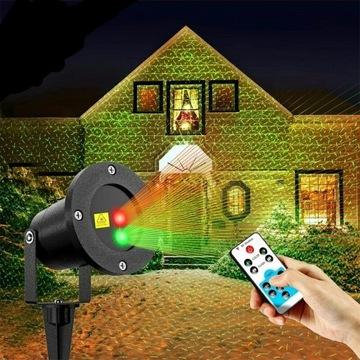 Świąteczny projektor laserowy na dom z pilotem