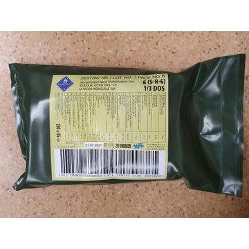 Wojskowa racja żywnościowa S-R-6 1/3DOS nr6 bigos