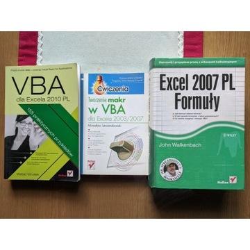 Książki Excel 2007PL, VBA, Walkenbach, Lewandowski