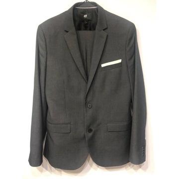 Szary garnitur H&M, rozm 50 ,slim fit