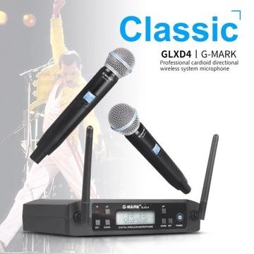 2 x PROFESJONALNY Mikrofon bezprzewodowy G-MARK