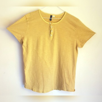 T-shirt rozpinany męski H&M przewiewny 100%bawełna