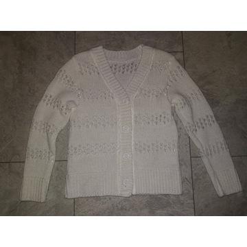 Sweter kardigan ażurowy 122cm