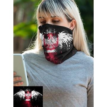 Komin na twarz Bandana chusta maska Polska Orzeł