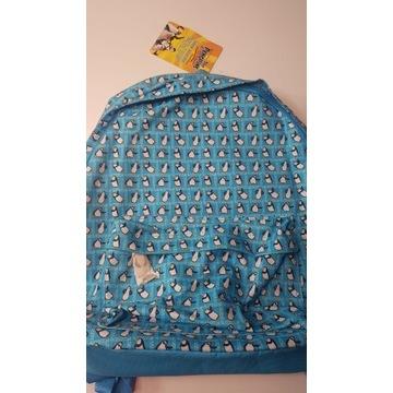 Niebieski dziecięcy plecak w pingwiny