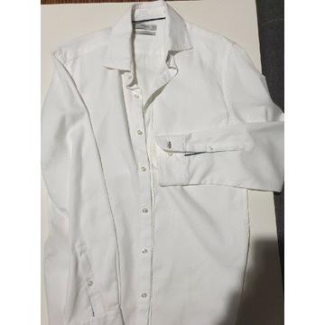 Biała Koszula Mango Slim Fit S