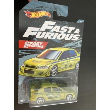 Hot wheels Fast & Furious mitsubishi lancer evo