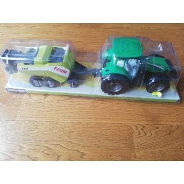 Ciągnik traktor z maszyną rolniczą