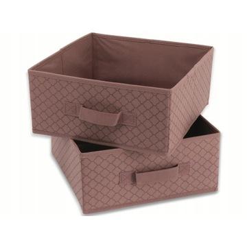 Składane pudełko TUKAN 28x28x13cm, kolor: Koral