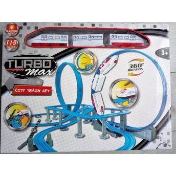 Kolejka  Turbo Max City Train Set na baterie