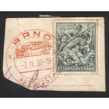 1938 - Czechosłowacja - Vouziers - wycinek