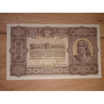 100 koron 1923 r. UNC