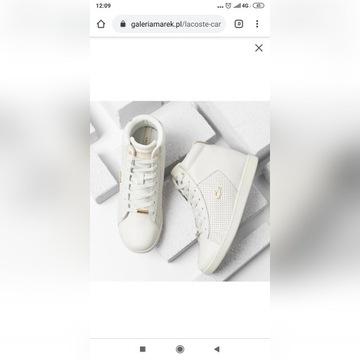 LACOSTE białe EVO WEDGE 3174 nowe 39 sneakersy