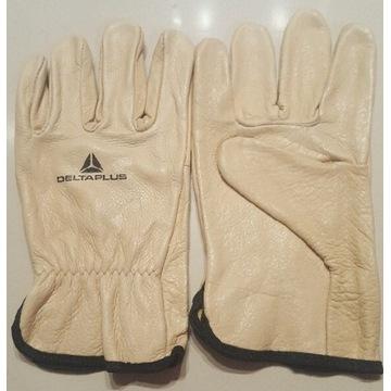 Rękawice robocze Delta Plus ze  skóry licowej