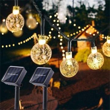 Solar LED  do ogrodu na zewnątrz - ciepła biel
