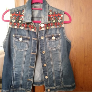Bezrękawnik katana jeans boho YESSICA r. L 40