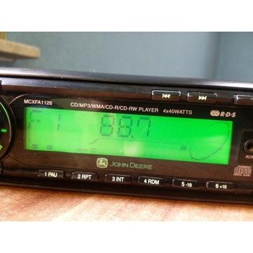 Oryginalne radio JOHN DEERE 12v mp3 aux usb karta