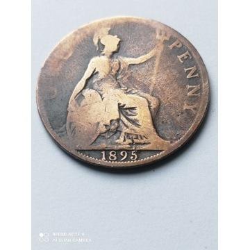 1 Pens z 1895 roku, Anglia, najrzadszy rocznik.