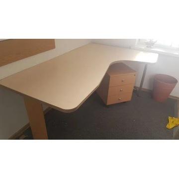 Solidne biurko z szafką na kółkach!