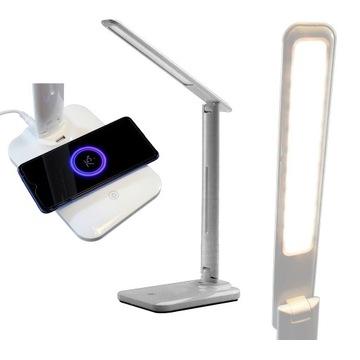 Lampka biurkowa LED z indukcyjną ładowarką QI