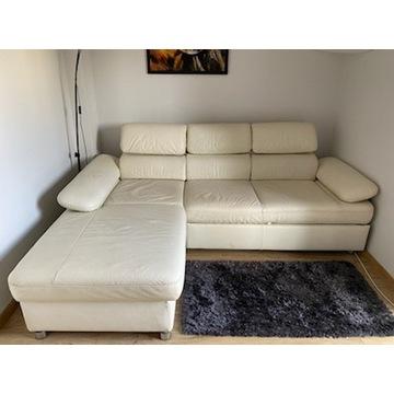Skórzana kanapa Gala Collezione z funkcją spania