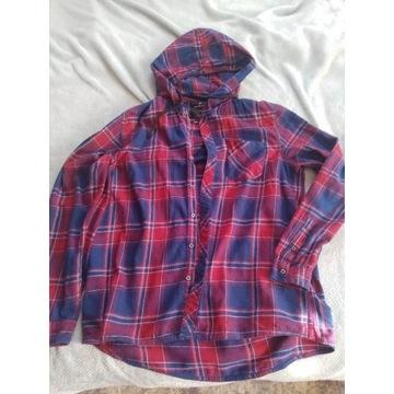 Koszula flanelowa z kapturem House XL