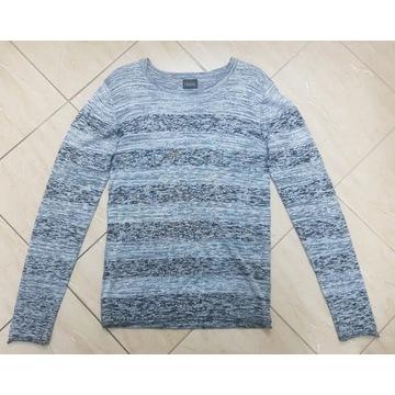 Sweter męski Solid M melanż szarości