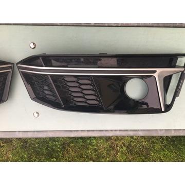 Kratki zderzaka połysk Audi A4 b9 s line