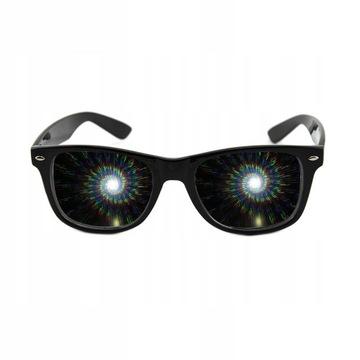 Okulary Dyfrakcyjne z efektem spiralnym PREZENT