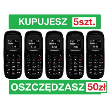 5x NOWY MINI TELEFON - L8STAR BM70 - SŁUCHAWKA BT