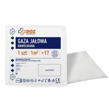 Gaza jałowa bawełniana 1m2 17nitkowa
