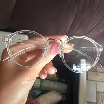 Okulary zerówki oprawki vintage plastikowe, NOWE