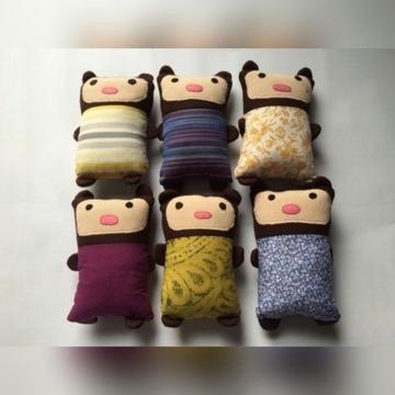 kolorowe maskotki pacynki handmade