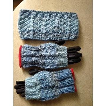 Komplet opaska i rękawiczki