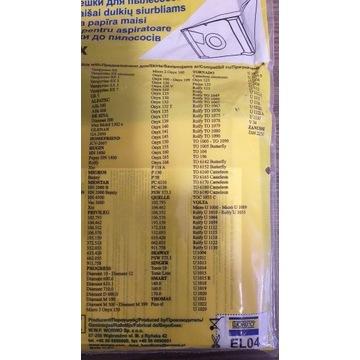 Papierowe worki do odkurzaczy Electrolux EL04.